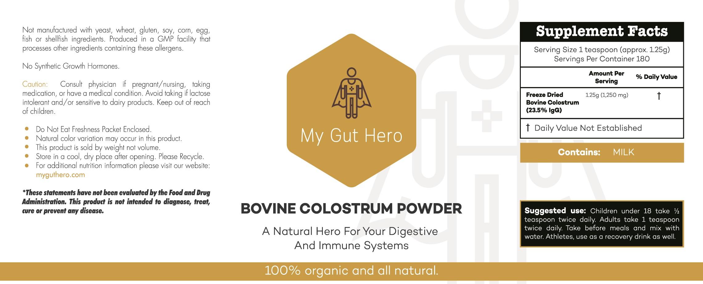 Organic Bovine Colostrum flat label-large